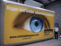 Inflatable Advertising Billboards - London - Manchester - Birmingham - Glasgow - Edinburgh, Newcastle - Hull - Bristol - Cardiff - Swansea